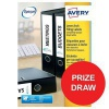 Avery Filing Labels Laser Lever Arch Ref L7171-100 [400 Labels] [Competition Offer] Jul-Sep 2017