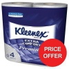 Kleenex Comfort Small Toilet Roll 2-ply 160 Sheets Ref 8484 [Pack 24] [Price Offer] Jul-Sep 2017