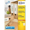 Avery Filing Label Recycled 4 Per Sheet 192x61mm Ref LR4761-100 [400 Labels]