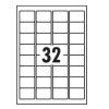 5 Star Value Labels Laser 32 per Sheet 49x30mm White [3200 Labels]