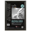 Snap Frame with Mounting Kit Aluminium with Anti-glare PVC Front-loading A4 245x20x332mm Black