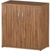 Trexus Office Low Cupboard 800x400x800mm 1 Shelves Walnut Ref S00005