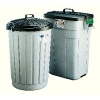 Addis Dustbin Round 90 Litre Grey With Black Lid AG813411