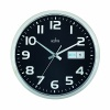 Acctim Chrome/Black Supervisor Wall Clock 320mm 21023