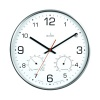 Acctim Komfort 30.5cm Metal Thermo Hygro Wall Clock 29147