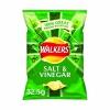 Walkers Salt and Vinegar Crisps 32.5g (Pack of 32) 121795