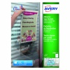 Avery Transparent Adhesive Sign Pockets Pack of 10 L7083-10