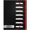 Black n Red 7-Part Folder Polypropylene A4 400051534