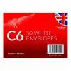 C6 Envelopes x 50 White (Pack of 12) OBS327