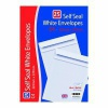 C4 Self Seal Envelopes x 25 White (Pack of 20) OBS755