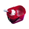2Work Plastic Mop Bucket with Wringer 15 Litre Red 102946RD