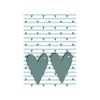 Grey Hearts Gift Wrap and Tags (Pack of 12) 27249-2S2T