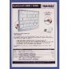 Franken Magnetic Document Holder A4 Blue (Pack of 5) ITSA4M/5 03