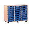 Jemini Mobile Storage Unit 24 Tray Beech (Dimensions: W870 x D495 x H650mm) KF72568