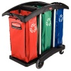 Newell Triple Capacity Recyclng Cart Blk