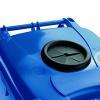 Wheelie Bin With Bottle Bank Aperture 240 Litre Blue 377866