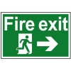 Fire Exit Running Man Arrow Right - PVC 300 x 200mm